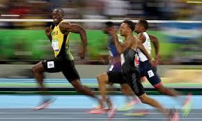 Sprinters in race