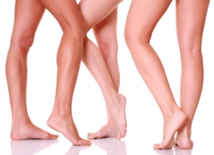 Three pairs of legs